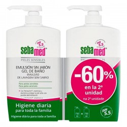 SEBAMED DUPLO -60% GEL BAÑO EMULSION 750ML