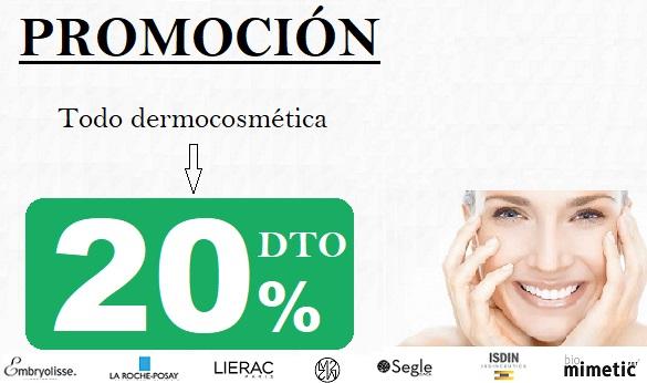 Dermocosmética 20% Dto.